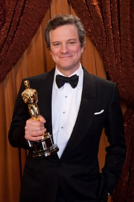 Colin Firth Backstage At Oscars