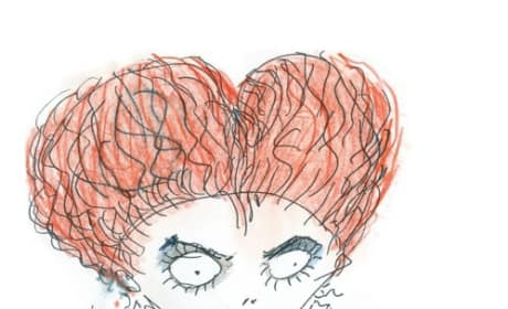 Disney Reveals Tim Burton's Red Queen Sketch