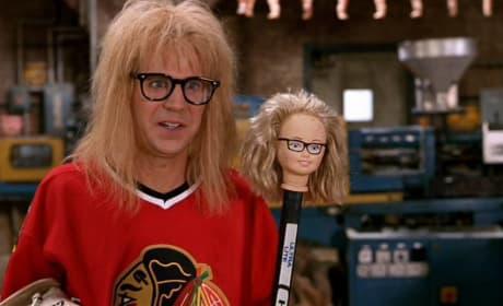 Garth with his creepy hockey stick