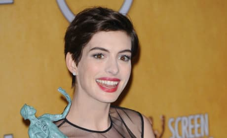 Anne Hathaway at the SAG Awards
