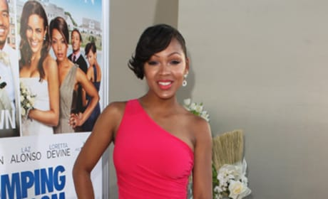 Meagan Good at Jumping the Broom Premiere