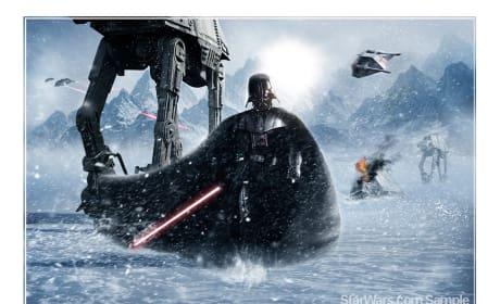 Darth Vader Hoth Painting