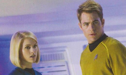 Alice Eve Chris Pine Star Trek Into Darkness