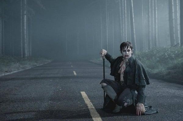 Johnny Depp in Action in Dark Shadows