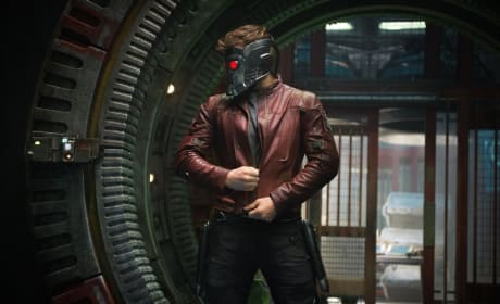 Guardians of the Galaxy Photos: Loving the Star Lord Mask!