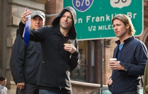 World War Z Set Brad Pitt Marc Forster