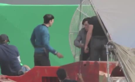 Star Trek 2 Video: Filming with Zachary Quinto & Benedict Cumberbatch