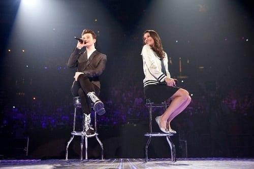 Glee 3D Concert Movie Lea Michele Chris Colfer