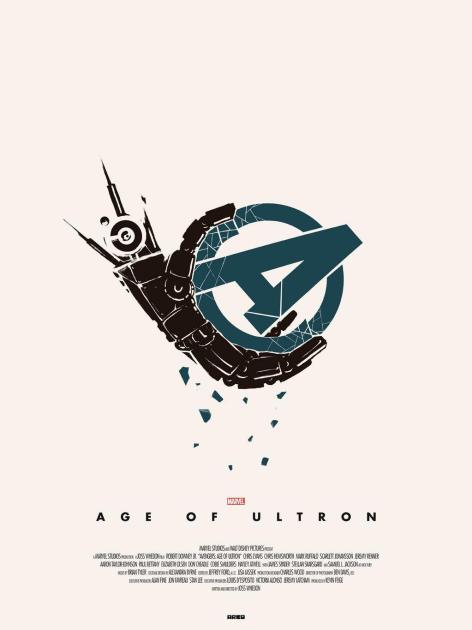 Ultron Crushing Avengers Poster