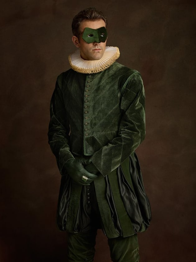 Green Lantern As Renaissance Painting