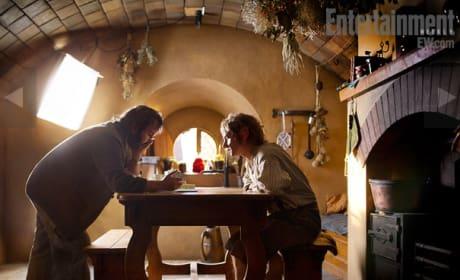 On Set with Bilbo Baggins