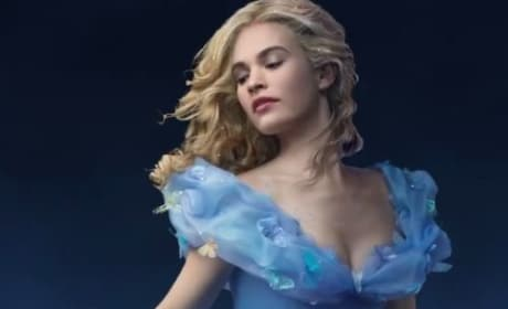 Lily James Cinderella Carriage Photo