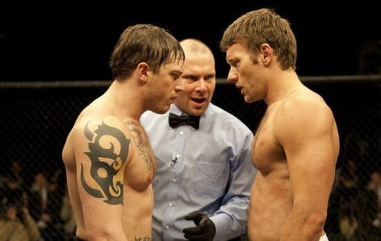 Joel Edgerton and Tom Hardy in Warrior