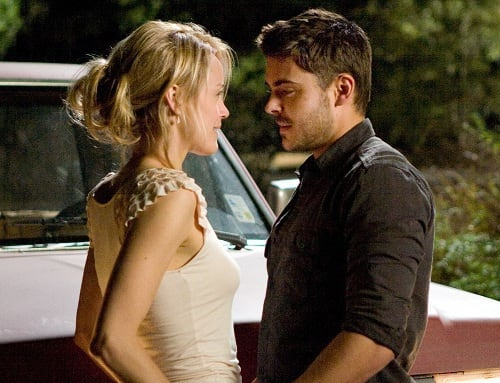 Taylor Schilling and Zac Efron in The Lucky One