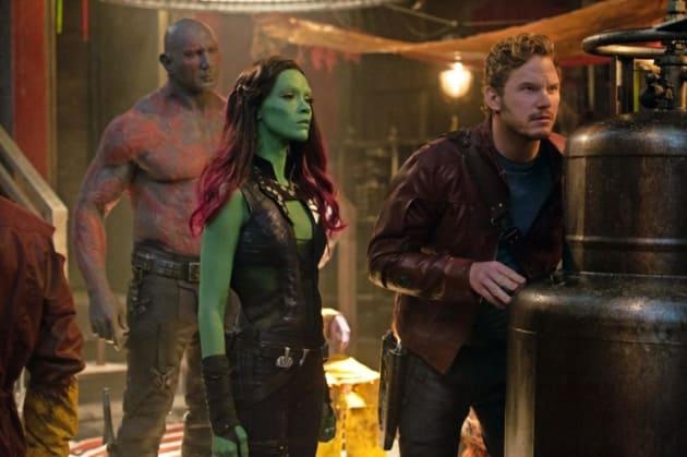 Guardians of the Galaxy Dave Bautista Zoe Saldana Chris Pratt