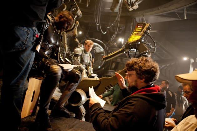 Idris Elba, Rob Kazinsky, and Guillermo Del Toro Pacific Rim