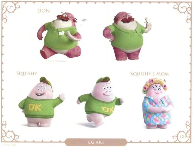 Monsters University Don, Squishy and Squishy's Mom