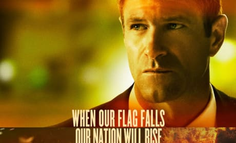 Olympus Has Fallen Character Poster: Aaron Eckhart as the POTUS
