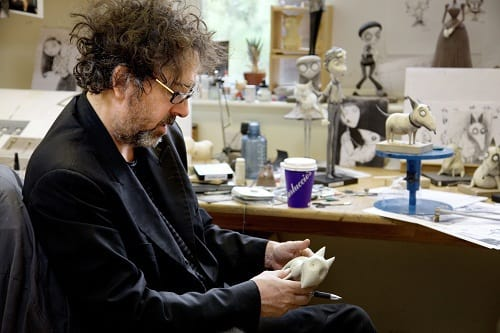 Tim Burton Works on Frankenweenie