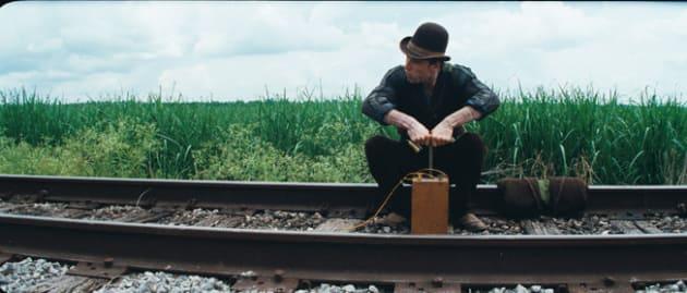Burke Blows the Train