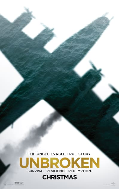 Unbroken War Plane Poster