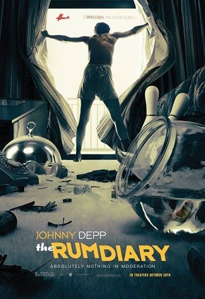 Johnny Depp in Rum Diary Poster