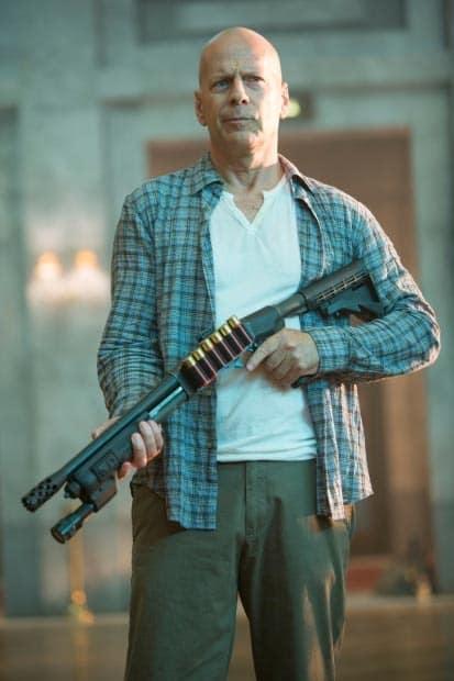 John McClane with a Gun A Good Day to Die Hard
