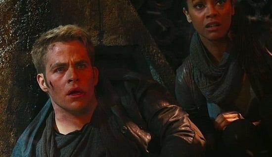Zoe Saldana Chris Pine Star Trek Into Darkness
