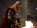Thor: The Dark World Chris Hemsworth Set Pic