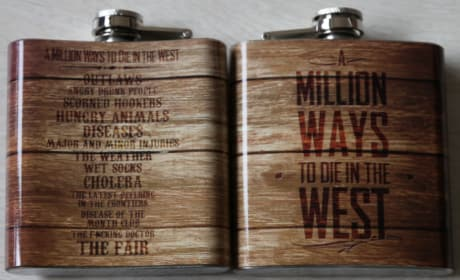A Million Ways to Die in the West Flask Set
