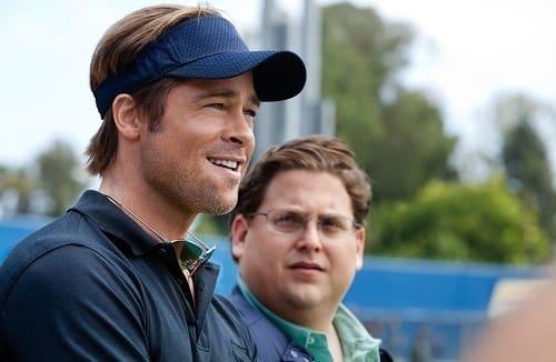 Jonah Hill and Brad Pitt in Moneyball