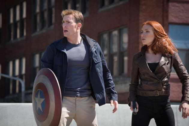 Cap & Black Widow in plain clothes!