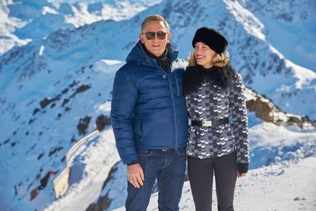 Spectre Set Daniel Craig Lea Seydoux