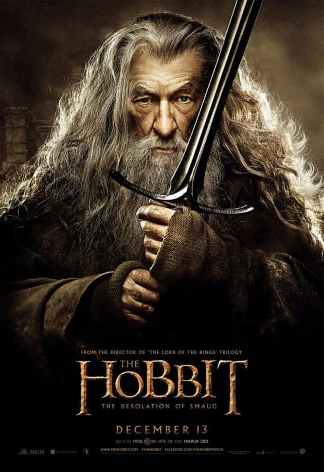 The Hobbit: The Desolation of Smaug Gandalf Poster