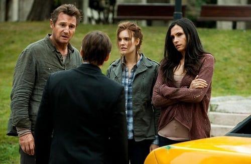 Liam Neeson, Famke Janssen and Maggie Grace in Taken 2