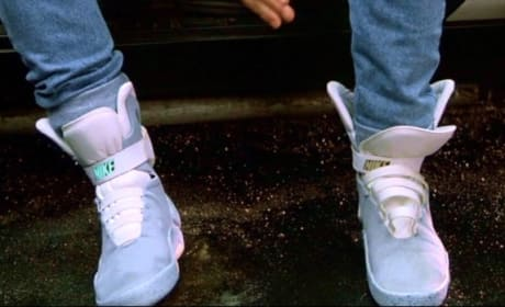 Back to the Future Part II Self Lacing Shoes Photo