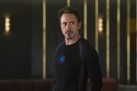 Robert Downey is Iron Man in The Avengers
