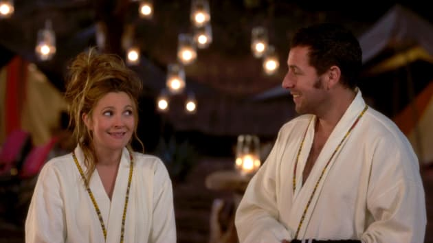 Sandler and Barrymore Take it Easy