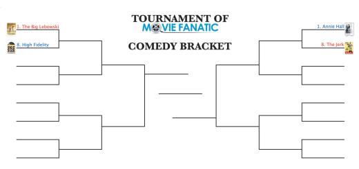 Movie Fanatic Comedy Bracket 1