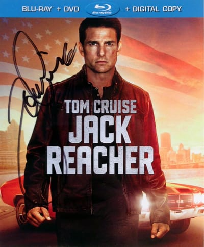 Tom Cruise Autographed Jack Reacher DVD