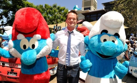 Neil Patrick Harris Global Smurfs Day