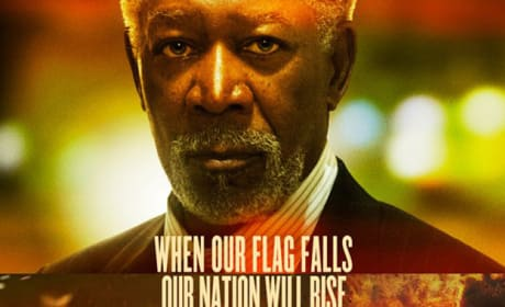 Morgan Freeman Olympus Has Fallen Poster