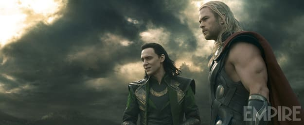 Thor: The Dark World Tom Hiddleston Chris Hemsworth