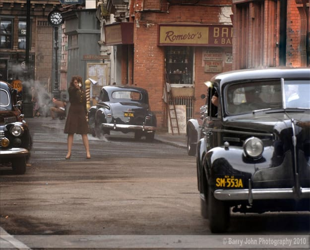 Hayley Atwell Shoots at a Car