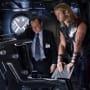 Clark Gregg and Chris Hemsworth in The Avengers