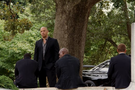 Vin Diesel Fast and Furious 7 Set Photo