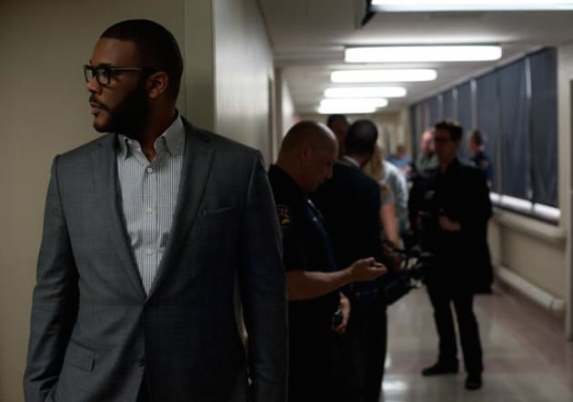 Tyler Perry Looks for Clues