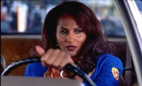 Jackie Brown driving