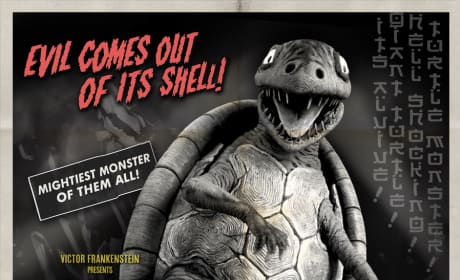 Frankenweenie Turtle Monster Poster