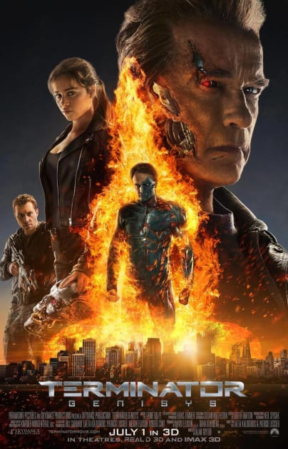 One Fiery Terminator: Genisys Poster!